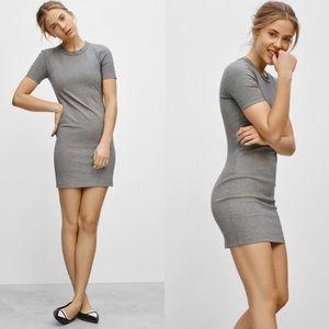 Aritzia Sunday Best Grey Miller t shirt dress